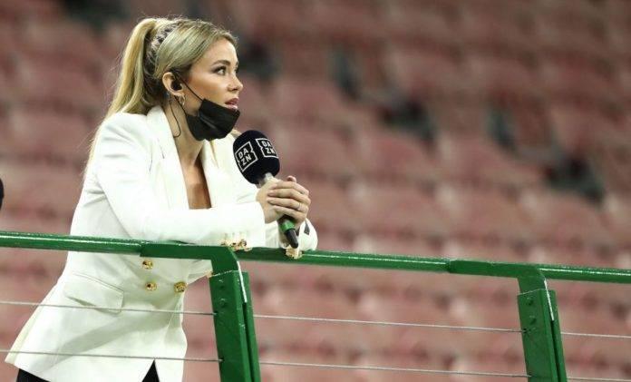 Diletta Leotta in tribuna