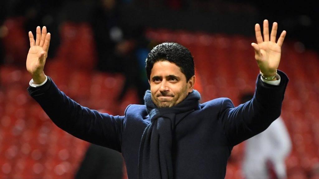 Al Khelaifi saluta i tifosi