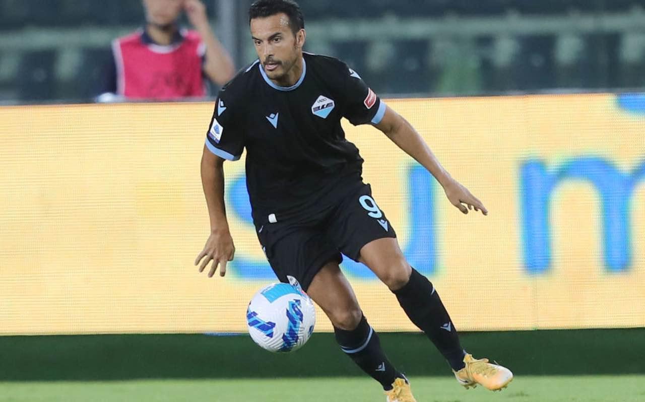 Pedro in azione con la Lazio
