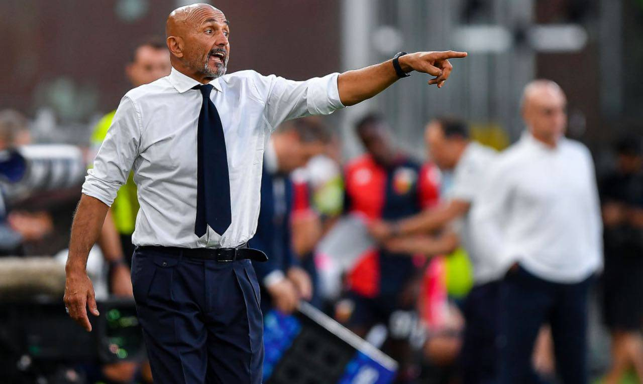 Spalletti dà indicazioni al Napoli contro il Genoa