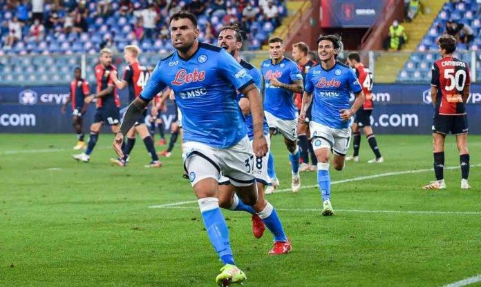 Petagna esulta per il gol al Genoa