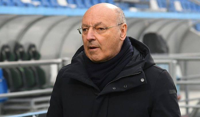 Inter, Beppe Marotta a bordo campo