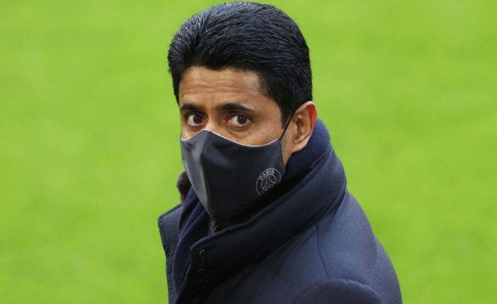 Al Khelaifi con mascherina