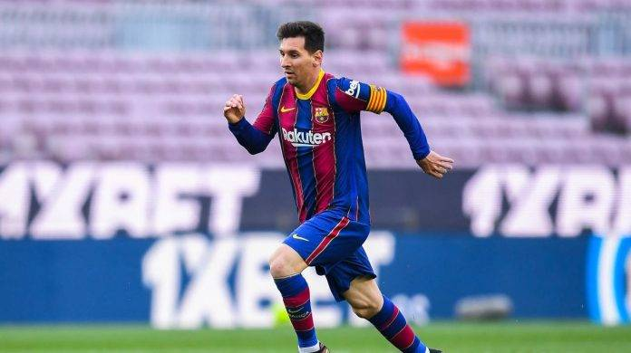 Messi in campo