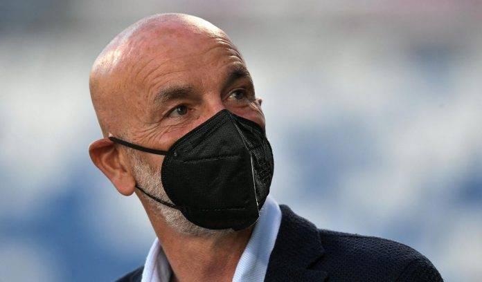 Sampdoria-Milan, Stefano Pioli con la mascherina