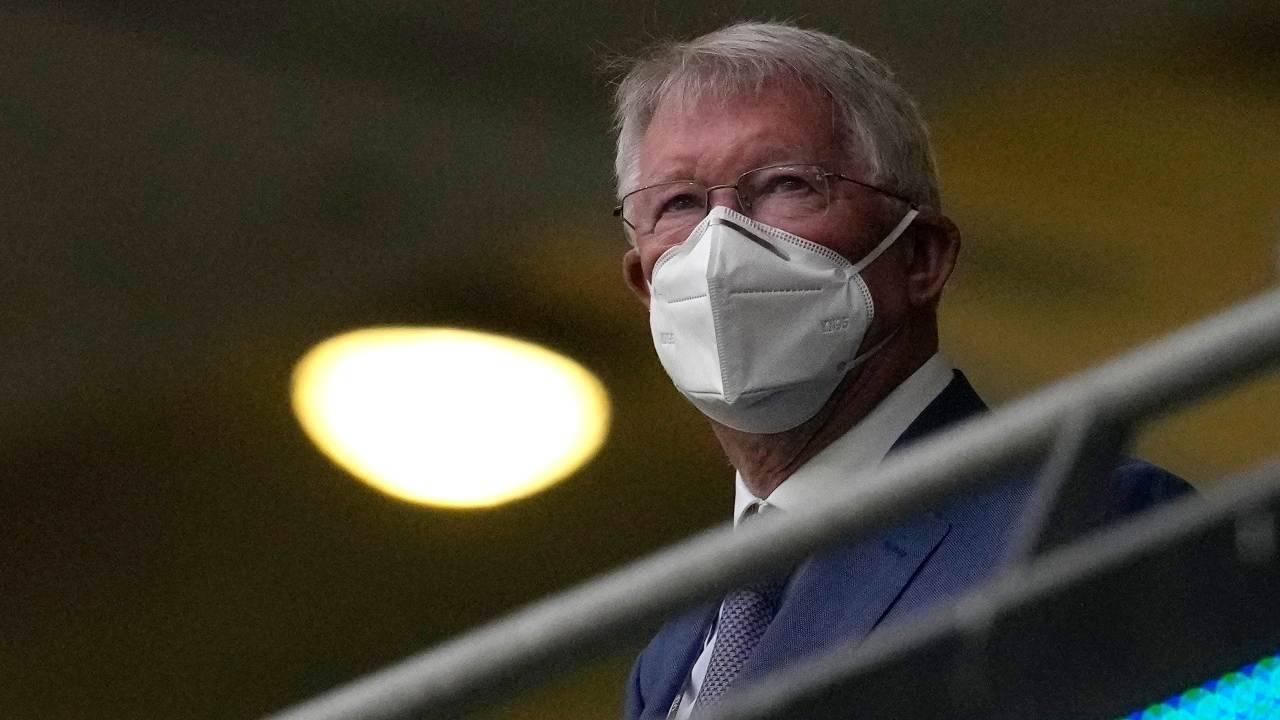 Sir Alex Ferguson in tribuna