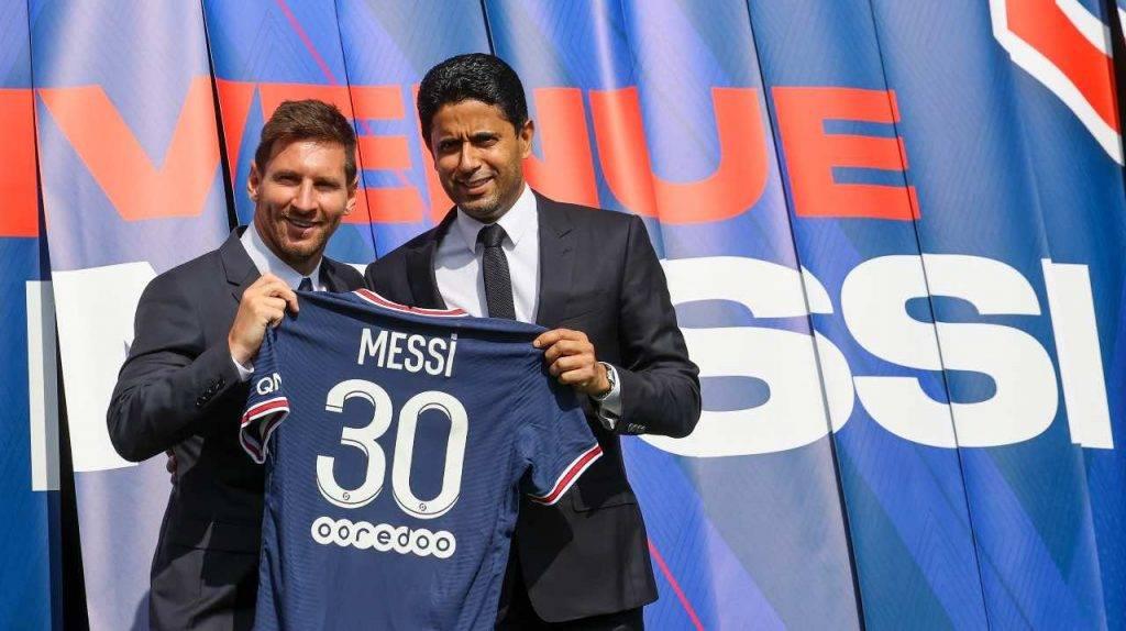 Messi con la sua nuova maglia