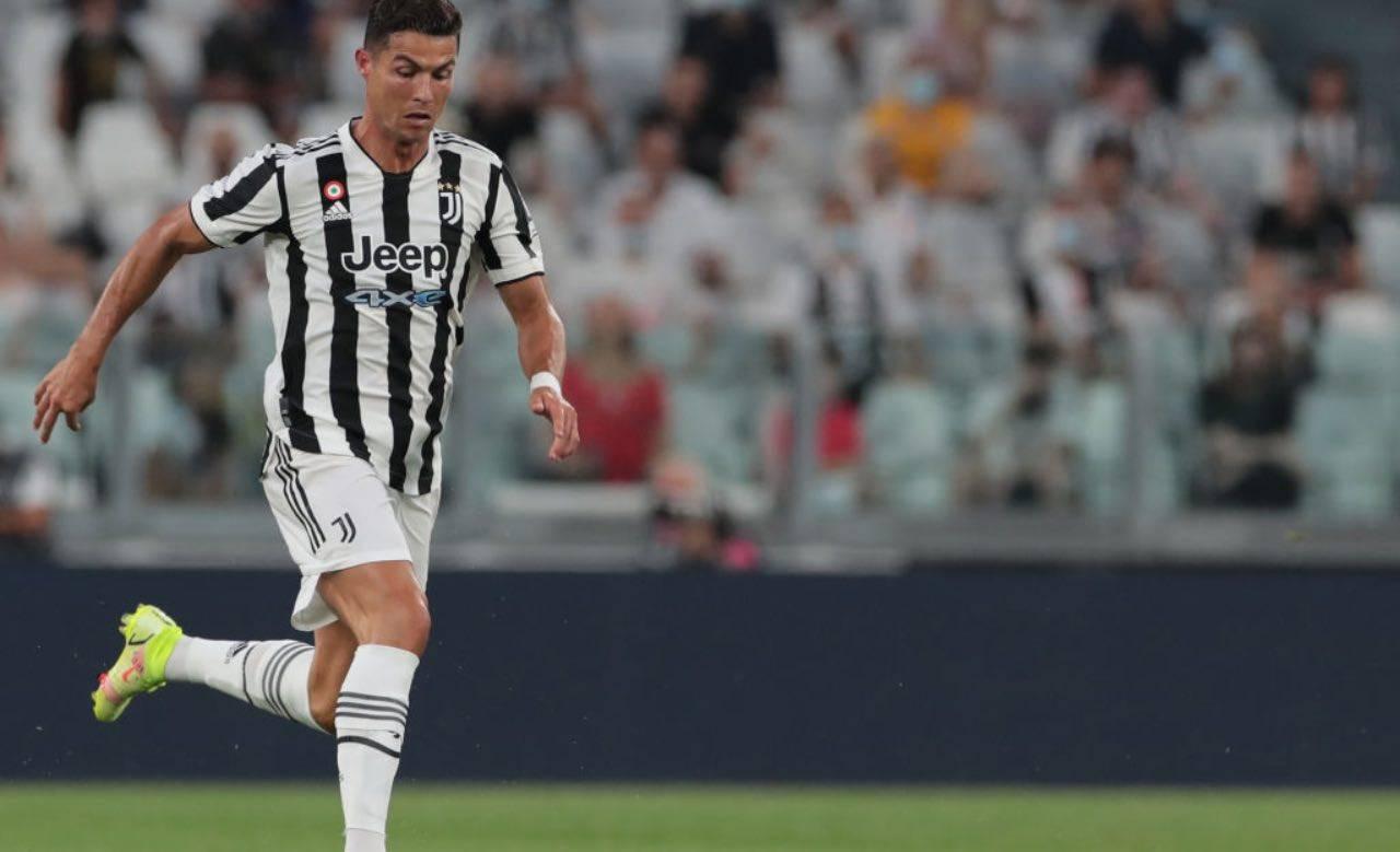 Ronaldo durante l'amichevole contro l'Atalanta