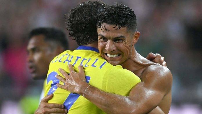 ronaldo abbraccia locatelli