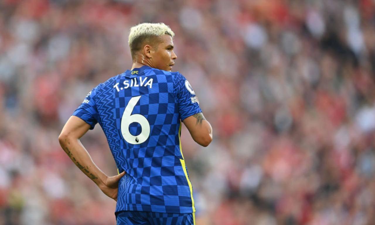 Thiago Silva in campo col Chelsea