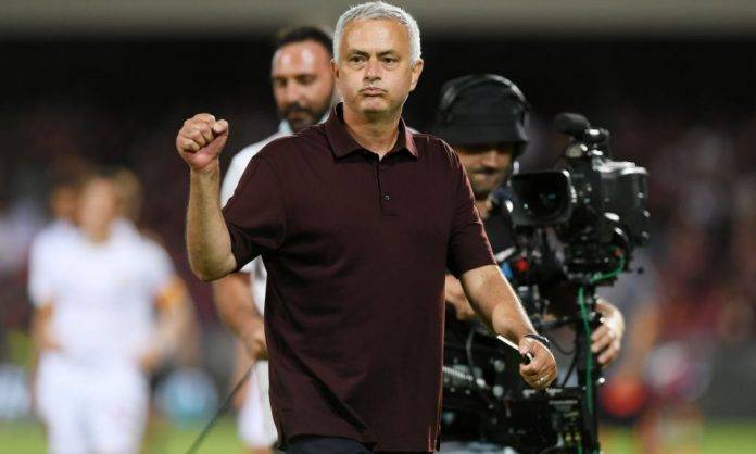 Mourinho in Salernitana-Roma