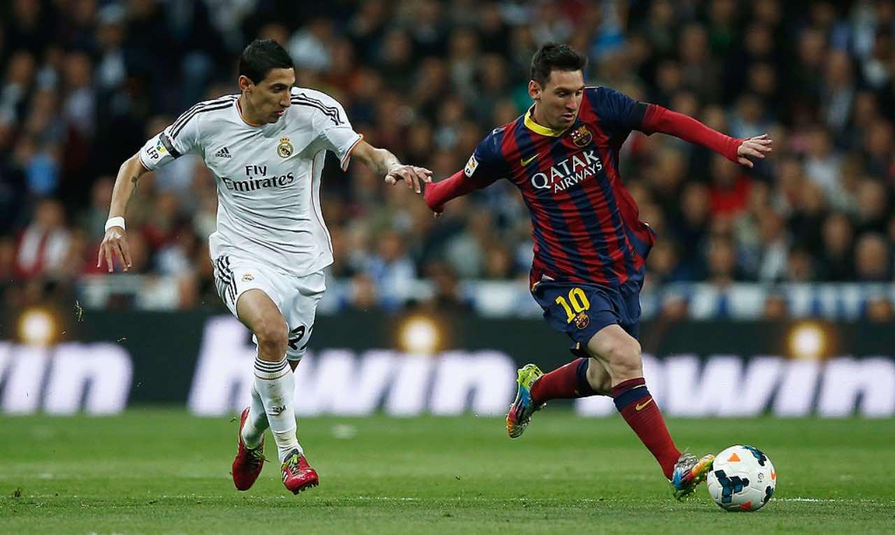 Messi e Di María nel 2014 in Barcellona-Real