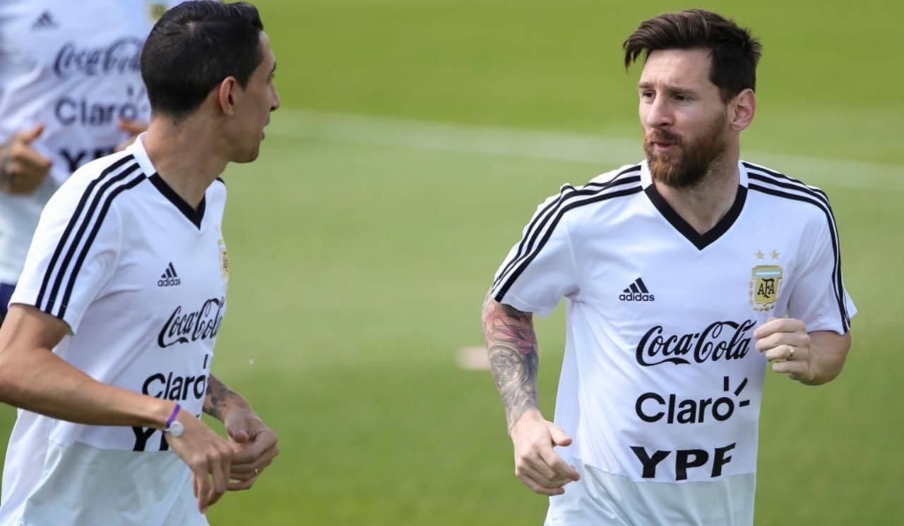 Messi e Di María si allenano con la Nazionale