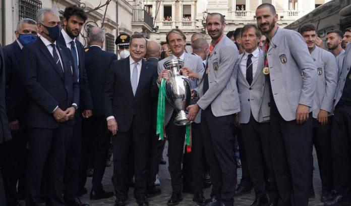 Mancini all'incontro con Draghi