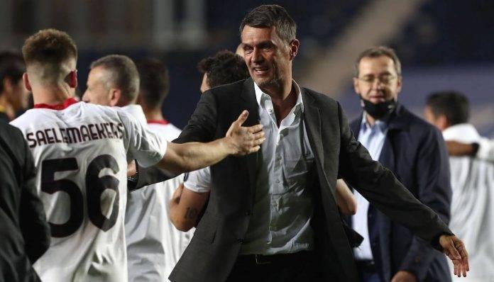 Paolo Maldini festeggia con Saelemakers