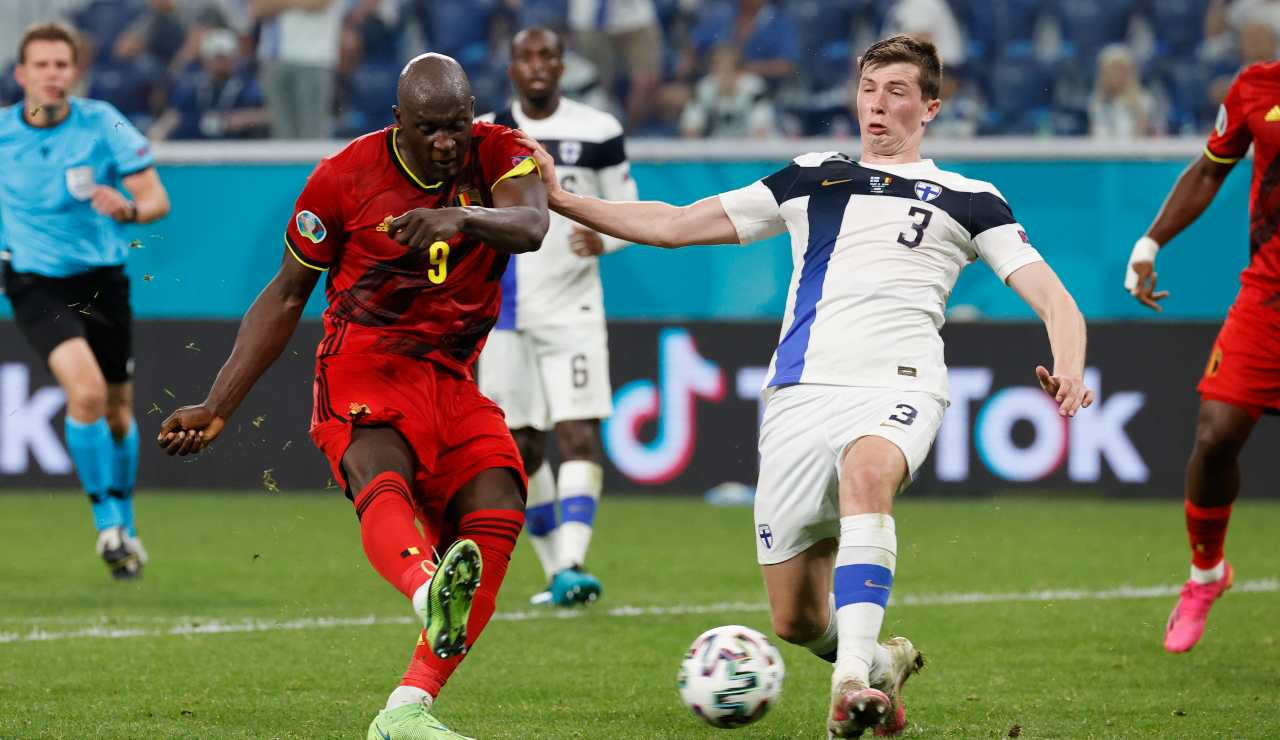 Lukaku in gol durante l'Europeo