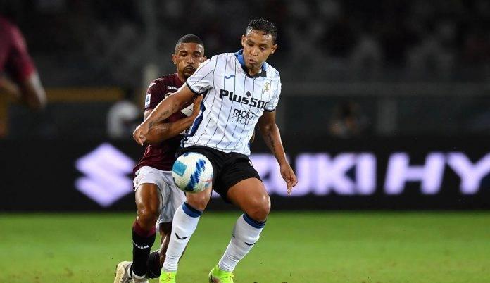 Bremer contro Muriel in Torino-Atalanta