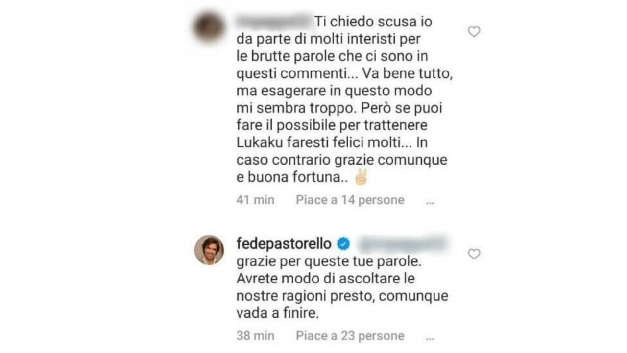 Federico Pastorello risponde sui social