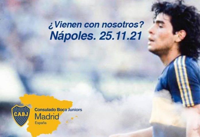 Locandina del consolato del Boca Juniors a Madrid