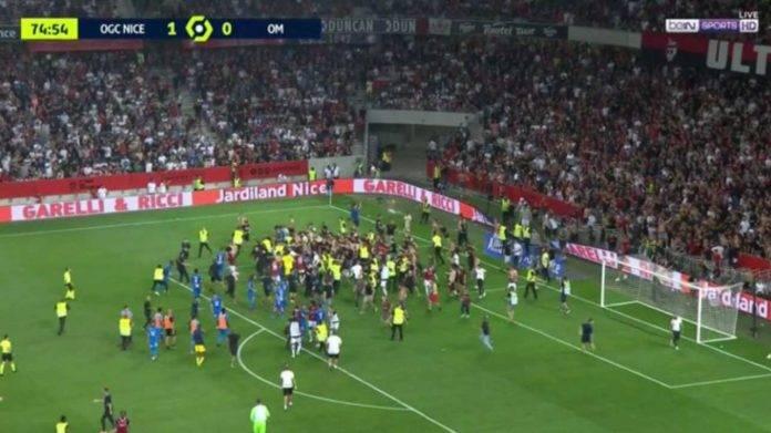 Ligue1, la rissa durante Nizza-Marsiglia