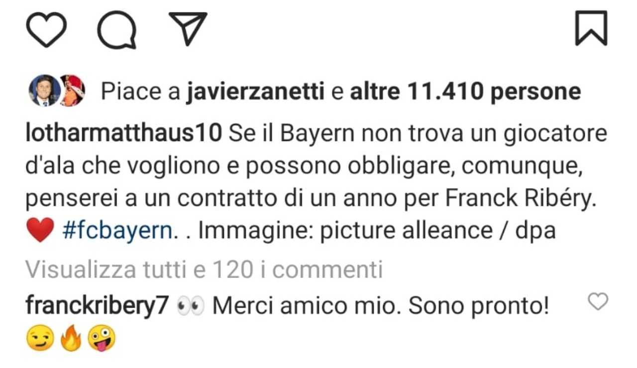 Il messaggio di Matthaus e Ribery