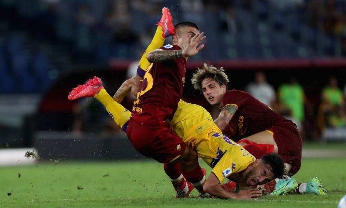 Roma-Fiorentina, Zaniolo a contrasto