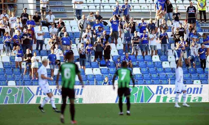 Sassuolo-Sampdoria, tifosi sugli spalti