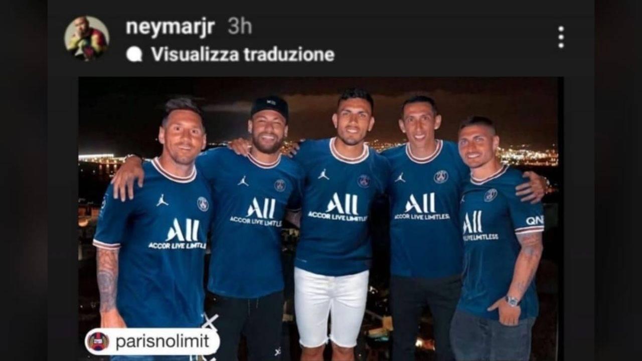 La storia Instagram pubblicata da Neymar