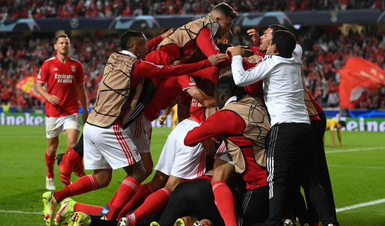 Benfica esulta per il gol