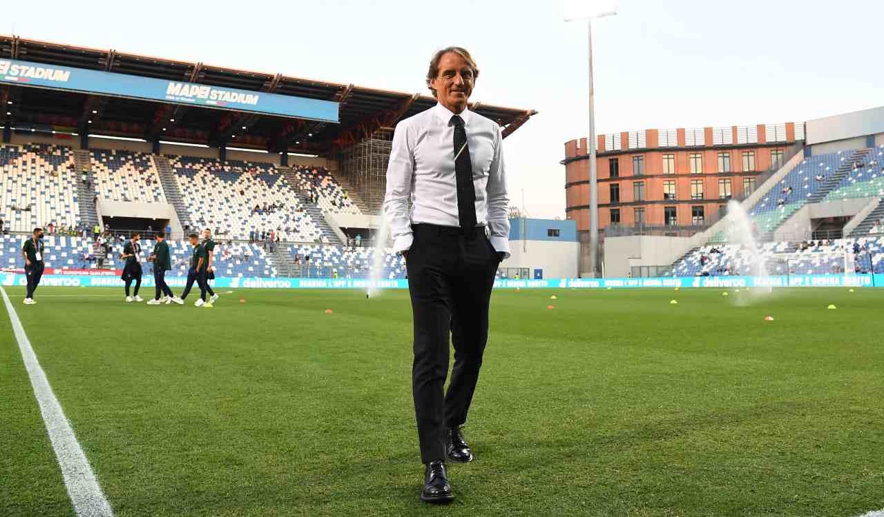 Mancini in campo