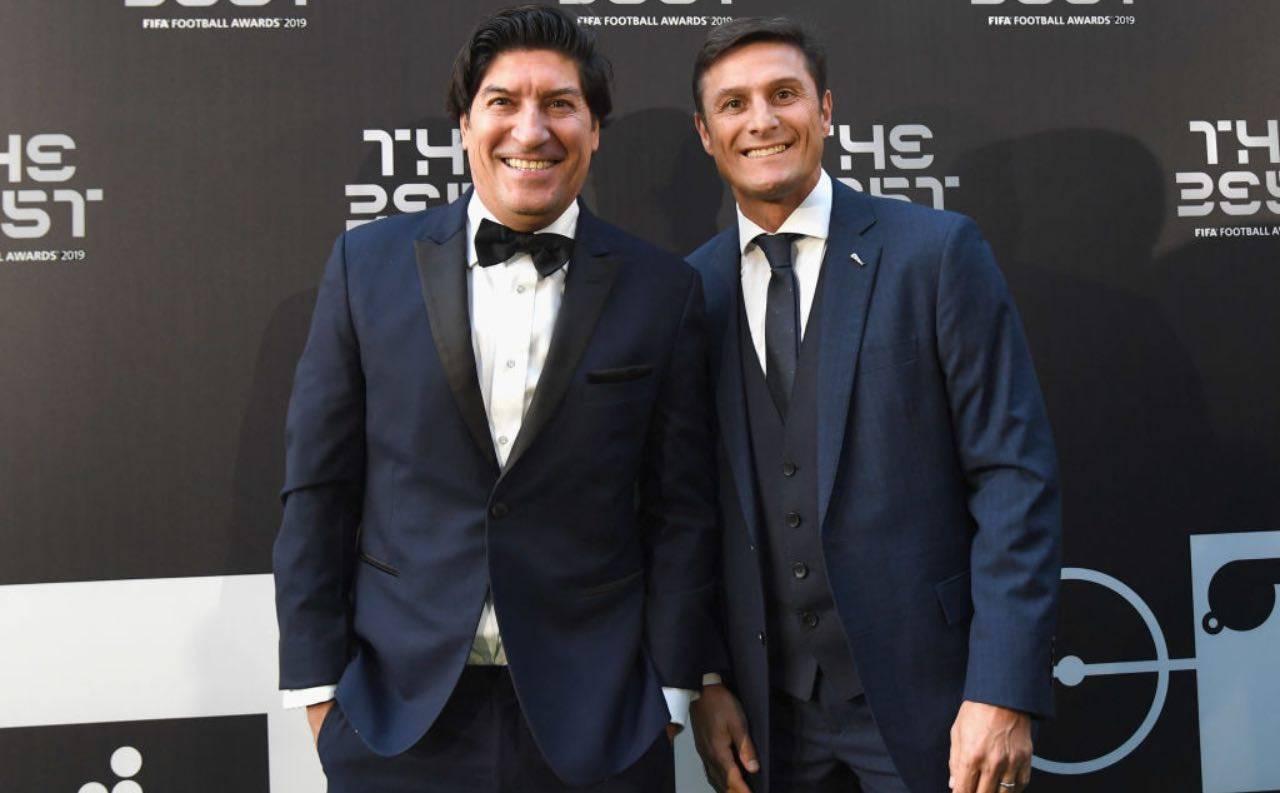 Ivan Zamorano con Javier Zanetti nel 2019