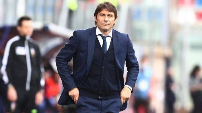 Conte sulla panchina dell'Inter