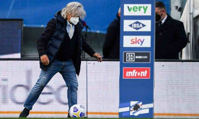 Massimo Ferrero in Sampdoria-Roma
