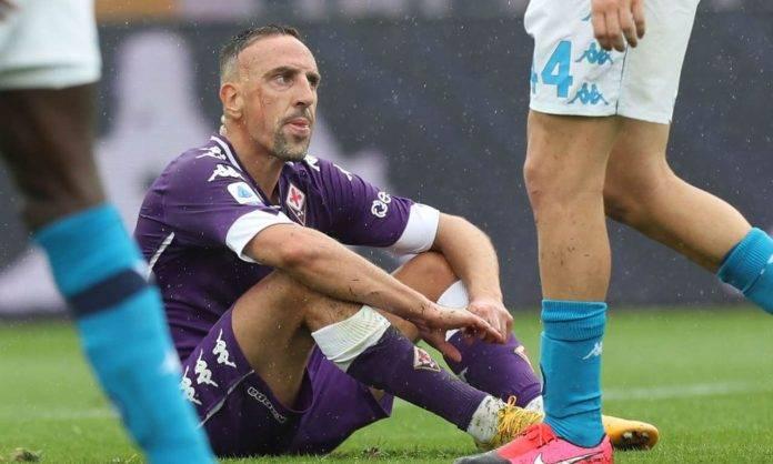 Ribery durante Fiorentina-Napoli