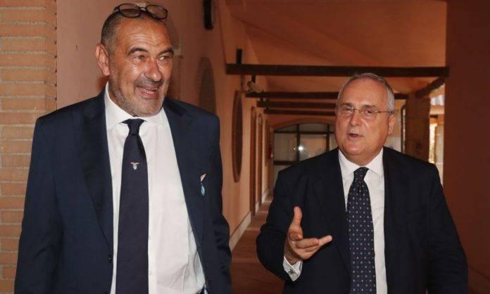 Lazio, Lotito con Sarri