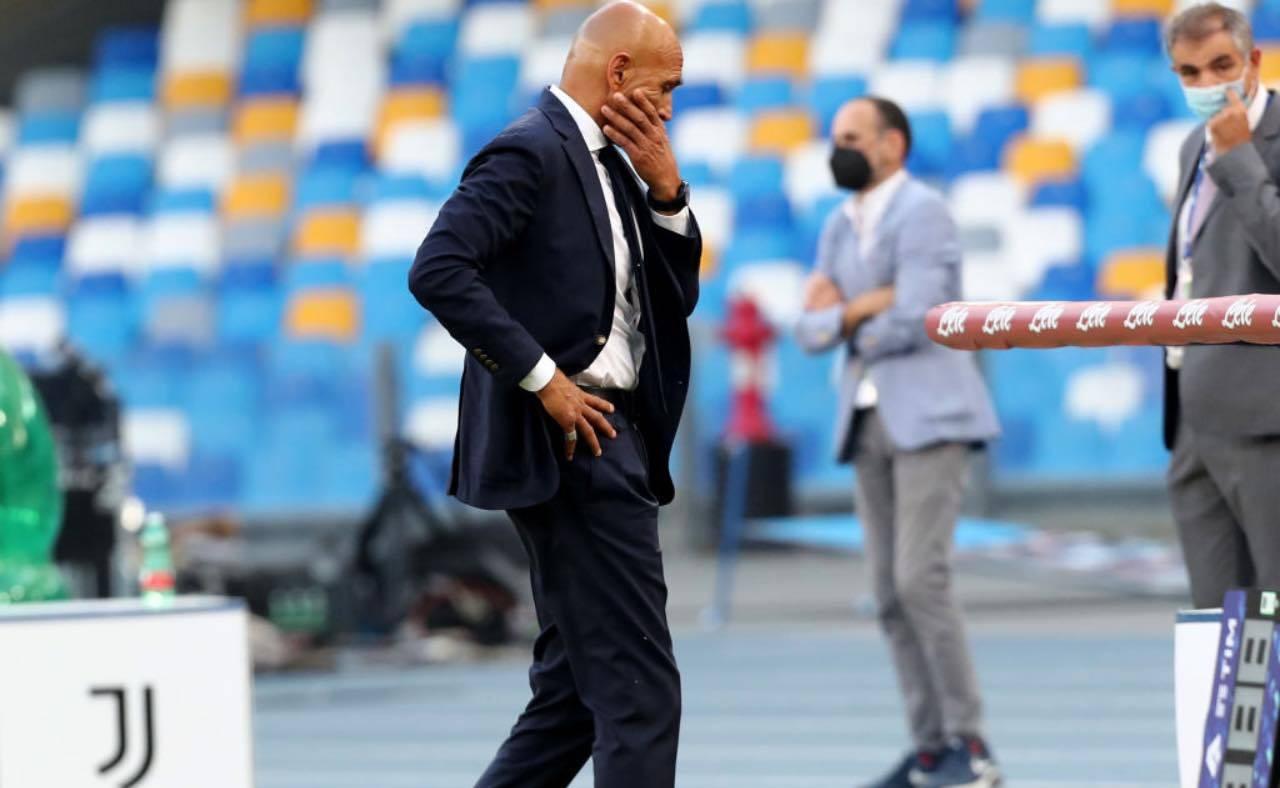 Spalletti durante Napoli-Juventus