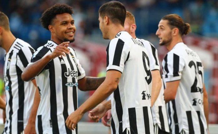 Morata festeggia dopo un gol con la Juventus