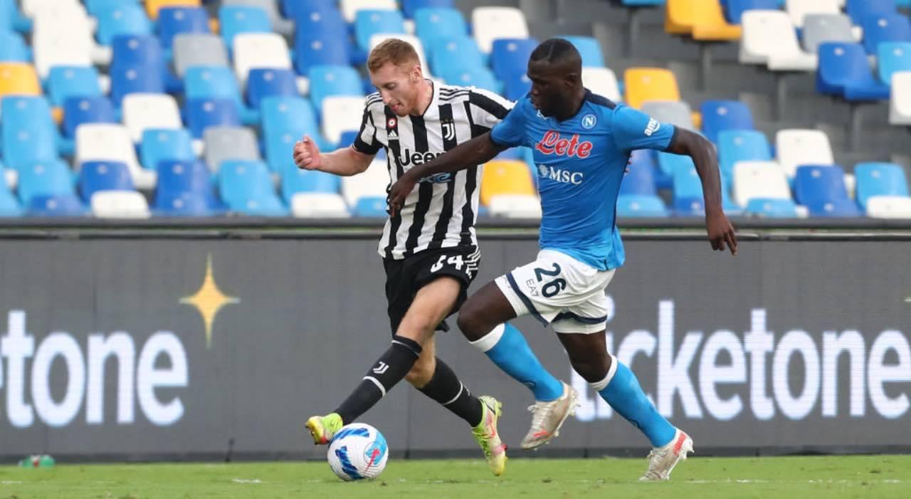 Koulibaly e Kulusevski in Napoli-Juventus