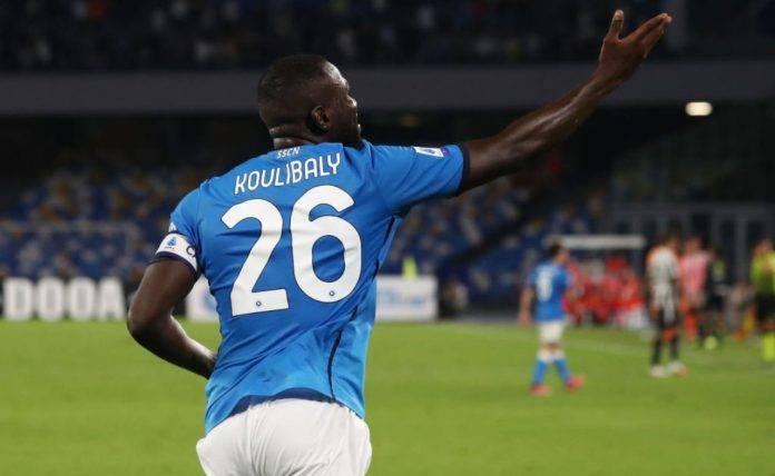 Koulibaly dopo il gol in Napoli-Juventus