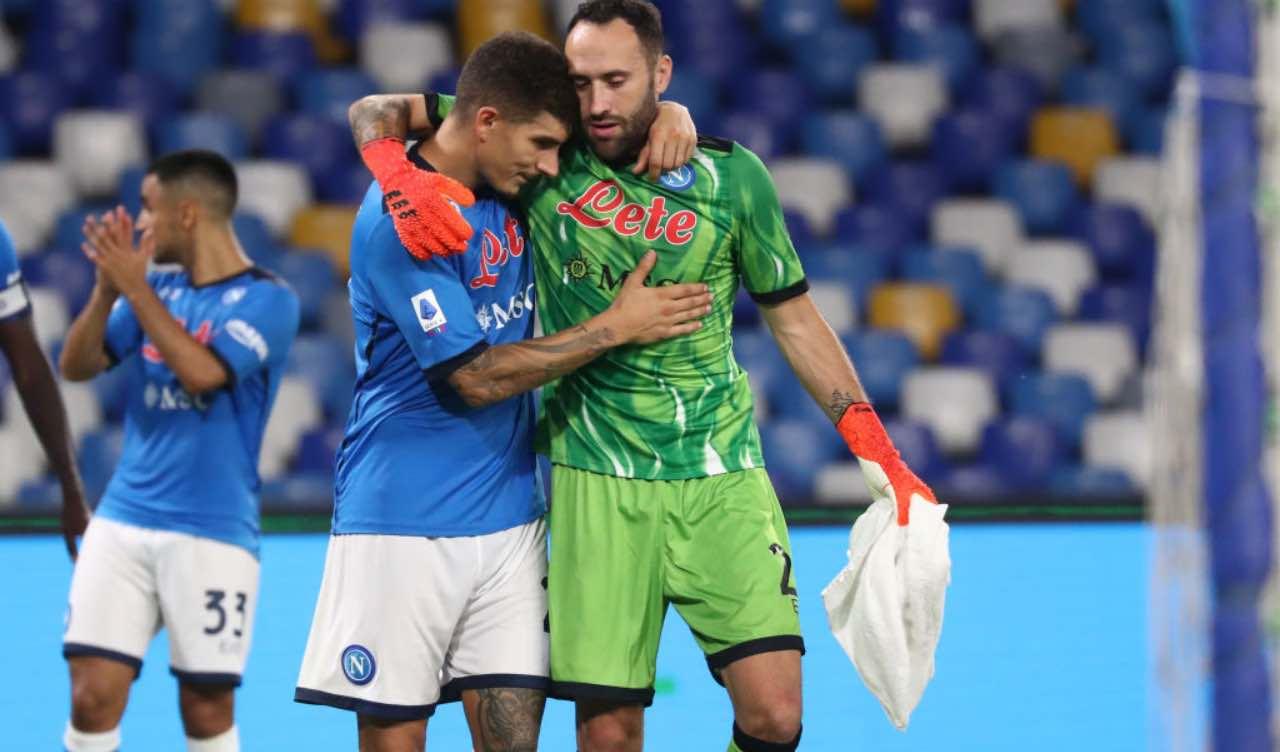 Ospina e Di Lorenzo in Napoli-Juventus