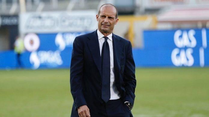 Allegri della Juventus in campo