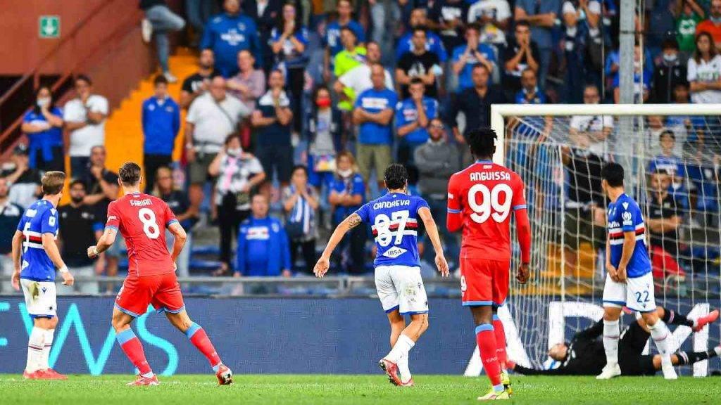 Napoli Sampdoria gol Fabian Ruiz