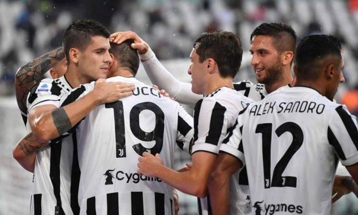 Juventus-Sampdoria, esultanza al gol di Bonucci