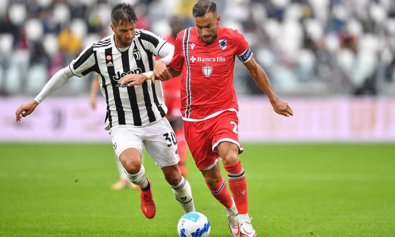 Bentancur e Quagliarella in Juventus-Sampdoria