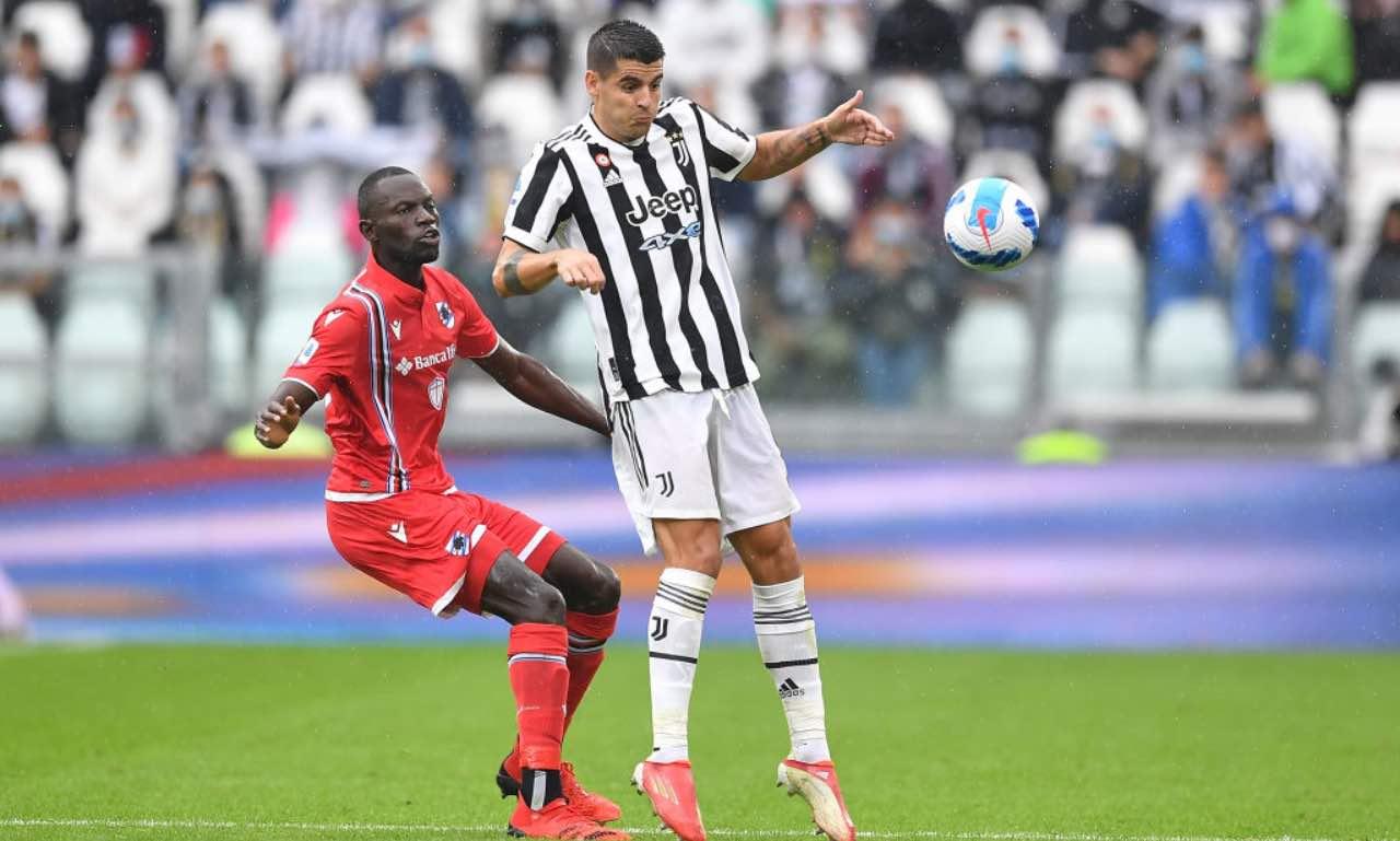 Morata in Juventus-Sampdoria