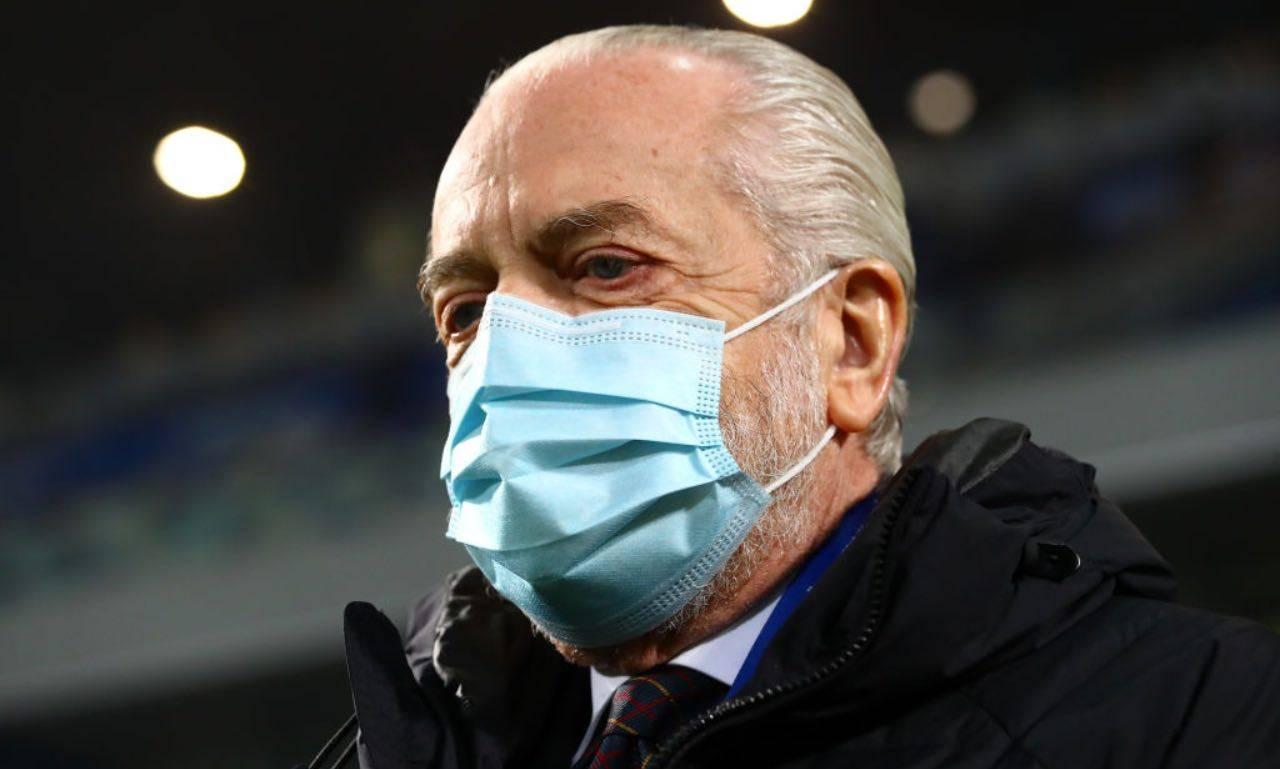 De Laurentiis con la mascherina