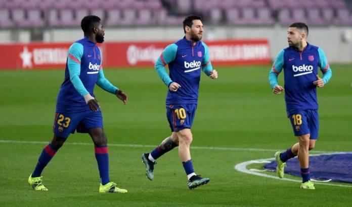 Barcellona, Messi, Umtiti e Jordi Alba