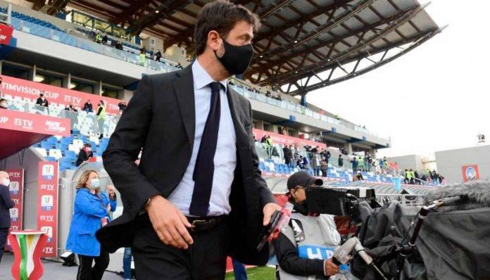 Agnelli durante la finale di Coppa Italia tra Juve e Atalanta