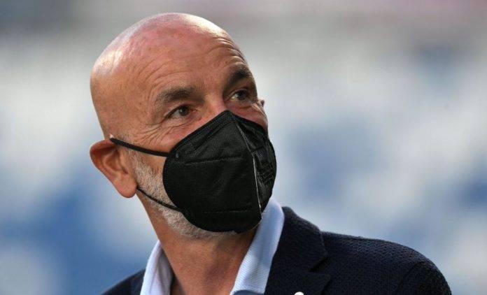 Spezia-Milan, Pioli con la mascherina