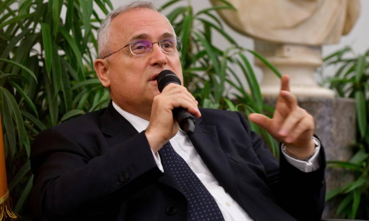 Lazio, Claudio Lotito in conferenza